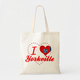 I Love Yorkville, Tennessee Canvas Bags