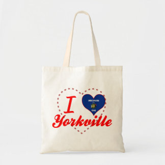 I Love Yorkville, Wisconsin Canvas Bag