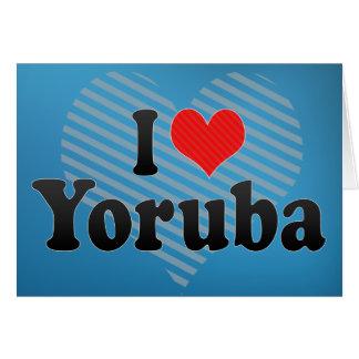 I Love Yoruba Greeting Cards