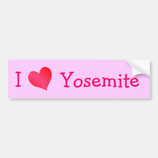 I Love Yosemite Car Bumper Sticker
