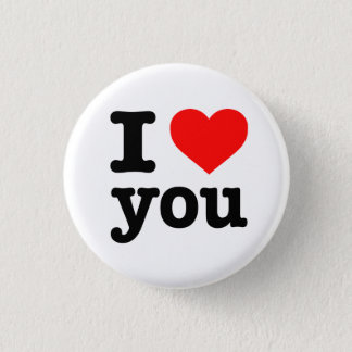 """""""I LOVE YOU"""" 1.25-inch Button"""