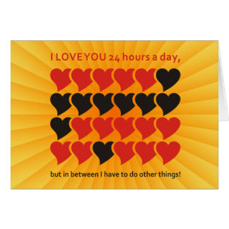 I LOVE YOU 24 hours a day | yellow shine Card