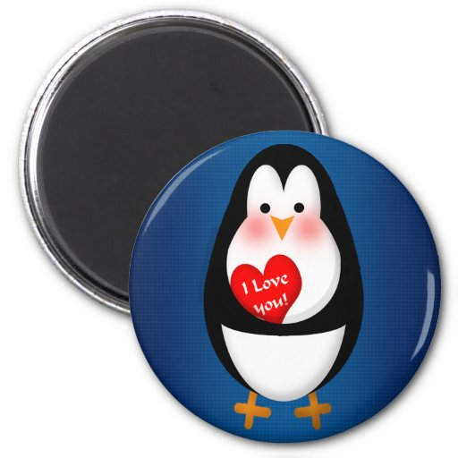 I LOVE YOU! 2 INCH ROUND MAGNET