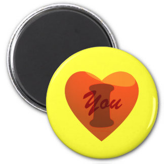 I love you 2 inch round magnet