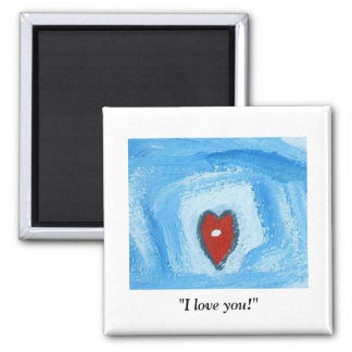 I LOVE YOU 2 INCH SQUARE MAGNET