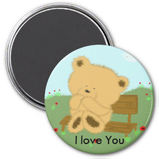 I love You 3 Inch Round Magnet