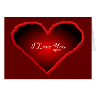 I Love You 3D Heart Greeting Card