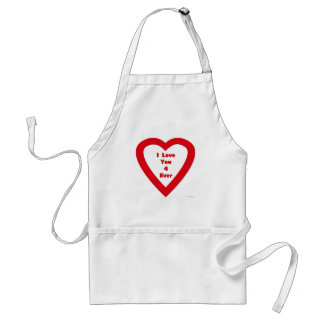 I Love You 4 Ever Adult Apron