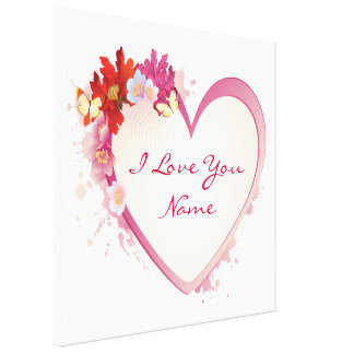 I Love You 5 Wrapped Canvas