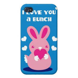 I love you a Bunch! bunny Case For iPhone 4