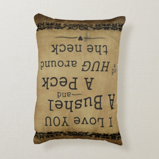 I love you a bushel and a peck pillow accent pillow