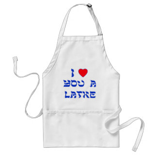 I love you a Latke Adult Apron