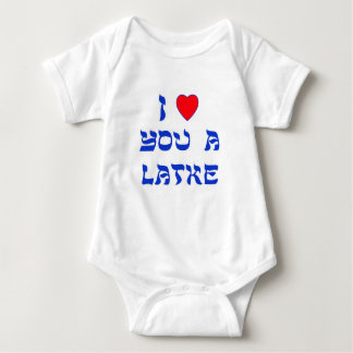 I Love You a Latke Baby Bodysuit