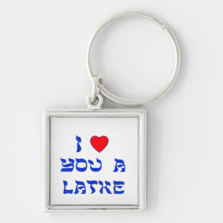 I Love You a Latke Keychain