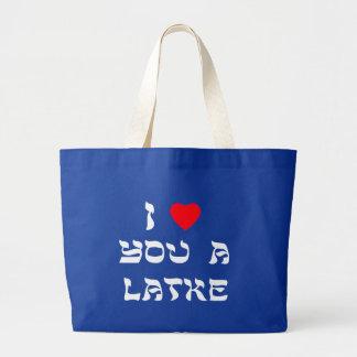 I Love You a Latke Large Tote Bag