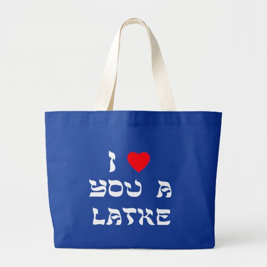I Love You a Latke Large Tote Bag