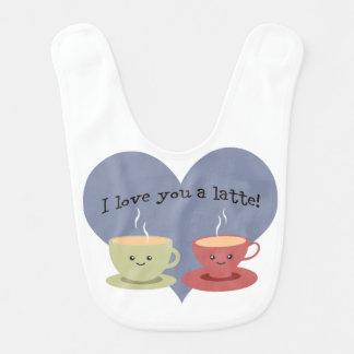 I love you a latte! baby bib