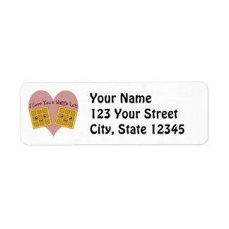 I Love You a Waffle Lot! Return Address Label