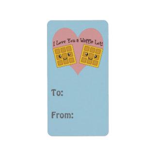 I Love You a Waffle Lot! Address Label