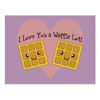 I Love You a Waffle Lot! Postcard