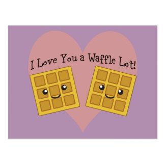 I Love You a Waffle Lot! Postcard