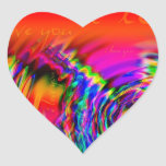 """I Love You"" abstract design Heart Stickers"