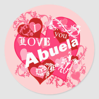 I Love You Abuela Classic Round Sticker