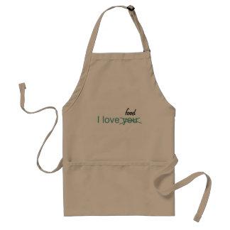 I love you, ahem I mean food, apron for barbeque