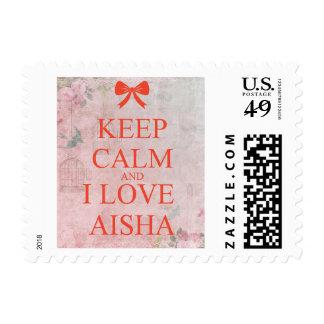 i love you aisha postage