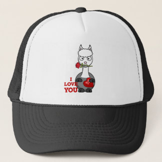 i love you alpaca trucker hat