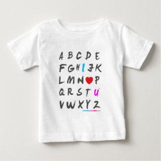 I Love You Alphabet Baby T-Shirt