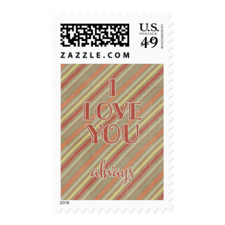 I LOVE YOU ALWAYS EXPRESSIONS QUOTES SAYINGS STRIP STAMP