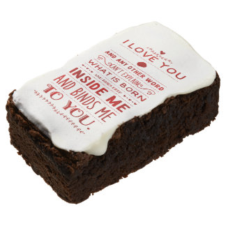 """""""I Love You And Any Other Word…"""" Funky Chic Brownie"""