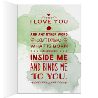 """""""I Love You And Any Other Word…"""" Funky Chic Card"""