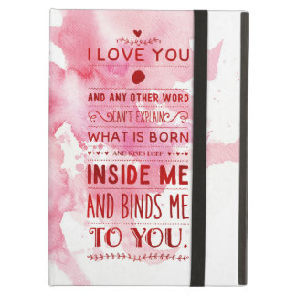 """""""I Love You And Any Other Word…"""" Funky Chic iPad Air Case"""