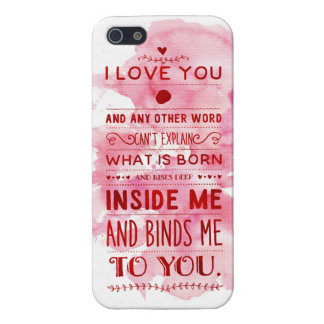 """""""I Love You And Any Other Word…"""" Funky Chic iPhone SE/5/5s Cover"""