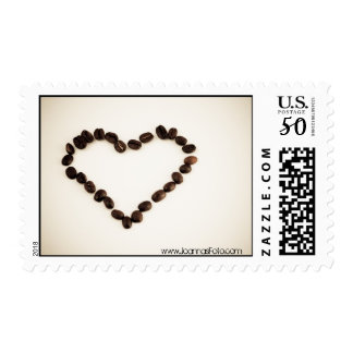 I Love You and Coffee- postage stamps