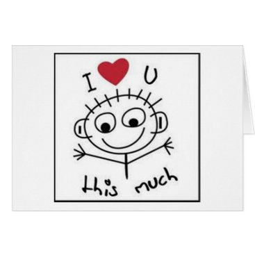 """friendshipandfun """"I LOVE YOU"""" AND """"I MISS YOU"""" THIS MUCH CARD"""