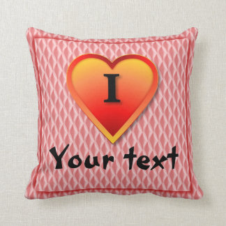 I love You and You; Add you text Throw Pillow
