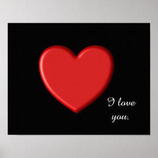 I love you - art print