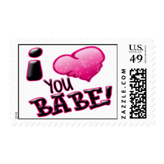 I Love You Babe - Designer Postage Stamp