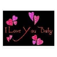 I Love You Baby Postcard