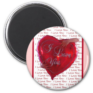 I Love You Balloon 2 Inch Round Magnet