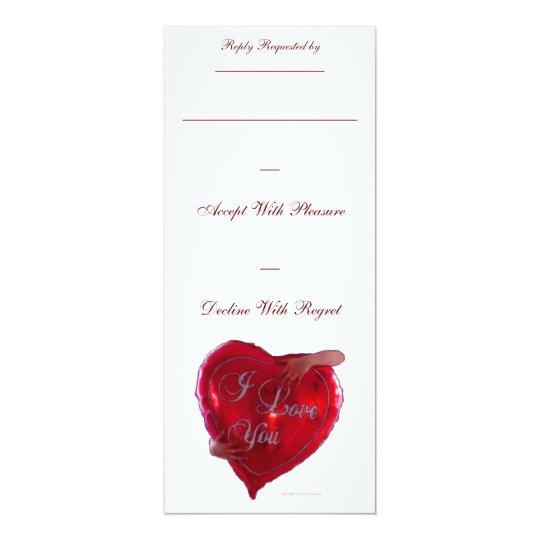 I Love You Balloon Card