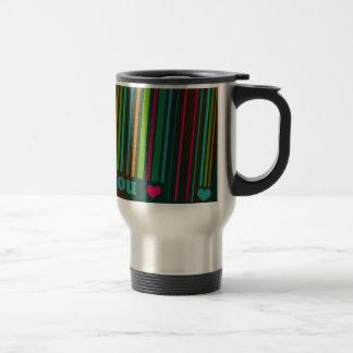 I love you - bar code 15 oz stainless steel travel mug