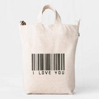 I Love You Barcode Duck Bag