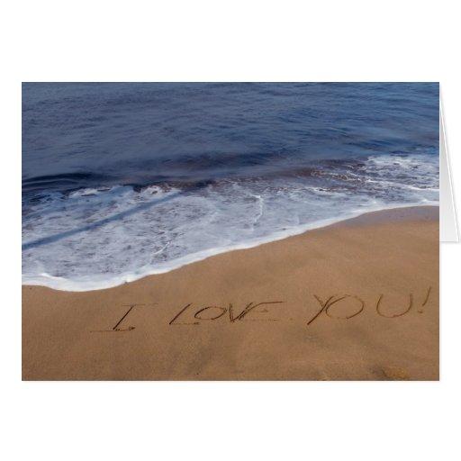 I love you ... beach love greeting card