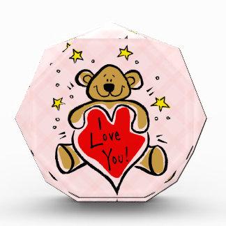I Love You Bear Acrylic Award