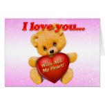 I love you Bear Cards