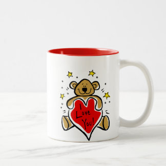 I Love You Bear Coffee Mug